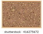 cork board vector  | Shutterstock .eps vector #416275672