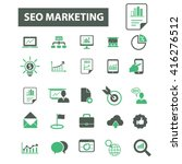 seo marketing icons  | Shutterstock .eps vector #416276512