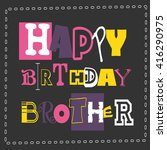 happy birthday card. vector... | Shutterstock .eps vector #416290975