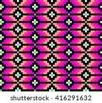 trendy  contemporary ethnic... | Shutterstock .eps vector #416291632