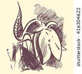 bluebell flower graphic... | Shutterstock .eps vector #416304622