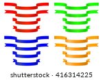 award ribbons. set of colored...   Shutterstock . vector #416314225