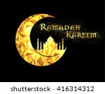 ramadan kareem greeting on... | Shutterstock .eps vector #416314312