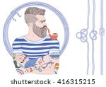 vector portrait of fashion... | Shutterstock .eps vector #416315215