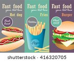 fast food poster with burger ... | Shutterstock .eps vector #416320705