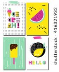 vector set of  scandinavian... | Shutterstock .eps vector #416321932