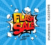 flash sale banner template... | Shutterstock .eps vector #416335498