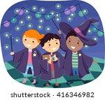 stickman illustration of boys...   Shutterstock .eps vector #416346982