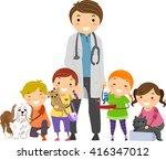 stickman illustration of kids... | Shutterstock .eps vector #416347012
