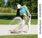 Golfer Hits The Ball Out Of...