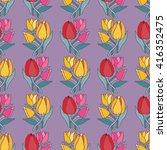 beautiful tulip flower bouquet... | Shutterstock .eps vector #416352475