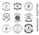 handmade workshop logo vintage... | Shutterstock .eps vector #416357506