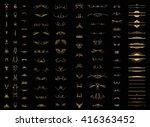 set vintage borders  frame and... | Shutterstock .eps vector #416363452