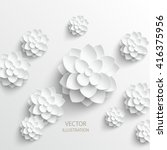 paper flower. background.... | Shutterstock .eps vector #416375956