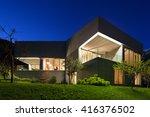 architecture modern design ... | Shutterstock . vector #416376502