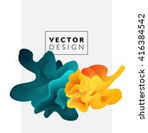 vector abstract color cloud. ... | Shutterstock .eps vector #416384542
