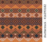 geometric ethnic pattern.... | Shutterstock .eps vector #416393182