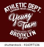 athletic department young team... | Shutterstock .eps vector #416397136