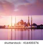 the crystal mosque in kuala...   Shutterstock . vector #416400376
