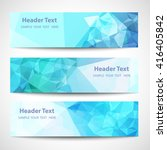 set of label banner polygon... | Shutterstock .eps vector #416405842