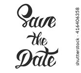save the date invite card... | Shutterstock . vector #416406358