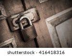 Old Lock On The Door. Lock On...