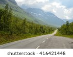 long narrow mountain road going ...   Shutterstock . vector #416421448