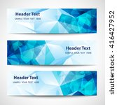 a set of modern vector banners... | Shutterstock .eps vector #416427952