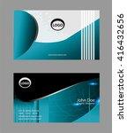 business card set    Shutterstock .eps vector #416432656
