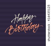 happy birthday lettering with... | Shutterstock .eps vector #416435125