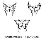 isolated tattoos of butterfly... | Shutterstock .eps vector #41643928