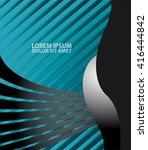 blue background vector overlap... | Shutterstock .eps vector #416444842