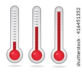 thermometer icon | Shutterstock .eps vector #416451352
