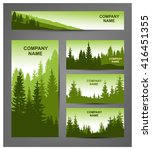 set of business cards  booklets ... | Shutterstock .eps vector #416451355
