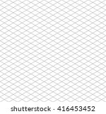gray isometric grid on white ... | Shutterstock .eps vector #416453452