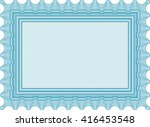 diploma or certificate template.... | Shutterstock .eps vector #416453548