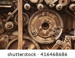 old rusty gears | Shutterstock . vector #416468686