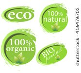 green  eco  bio and organic... | Shutterstock .eps vector #416476702