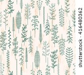 pattern with natural elements | Shutterstock .eps vector #416480362
