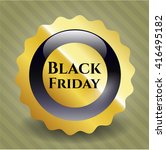 black friday gold shiny badge   Shutterstock .eps vector #416495182
