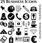 business icon set. 25 icons... | Shutterstock .eps vector #416500642