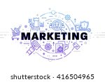 typographic technology design.... | Shutterstock .eps vector #416504965