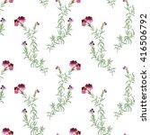 flowers watercolor retro... | Shutterstock . vector #416506792