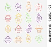 set of  colorful speech or... | Shutterstock .eps vector #416514406