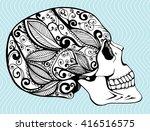 Human Skull. A Stylized Skull....