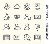 community. social media icons... | Shutterstock .eps vector #416518435
