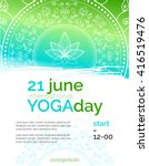 vector yoga illustration.... | Shutterstock .eps vector #416519476