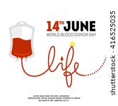vector world blood donor day... | Shutterstock .eps vector #416525035