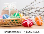 Knitted Easter Eggs And Easter...