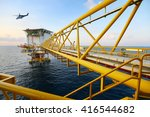 offshore construction platform... | Shutterstock . vector #416544682
